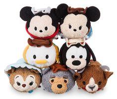 Mini Frontierland Tsum Tsum Collection - Minnie, Mickey, Donald, Goofy, Bonnie Bear, Big Al, and Goat
