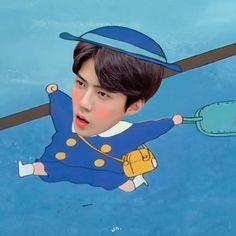 Kermit, Kyungsoo, Chanyeol, Perspective Sketch, Exo Lockscreen, Exo Memes, Flower Aesthetic, Kpop, Chanbaek
