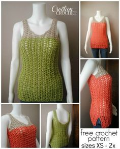 FREE crochet pattern ~ Breezy Shell Tank ~ great for summer