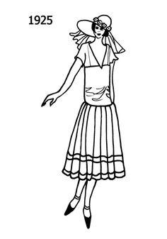 Fashion Social History 1920-1940  http://www.fashion-era.com/C20th_costume_history/1924_silhouettes_1.htm