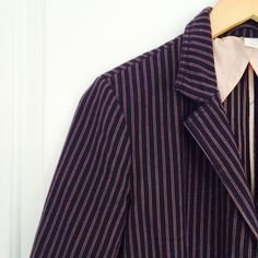 J. Crew blazer J. Crew casual blazer in navy striped cotton. Front button closure and front pockets. Unlined. Size M. J. Crew Jackets & Coats Blazers