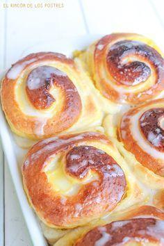 El rincón de los postres: Rollitos de crema #recetas #dulces #bollo