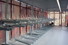 Image 7 of 21 from gallery of Bicycle Parking De Snelbinder / Kraaijvanger Urbis with Donald Osborne Architect. Courtesy of Kraaijvanger Bike Storage Office, Bike Room, Expanded Metal, Bike Store, Parking, Shops, Bicycle Design, Town And Country, Urban Design