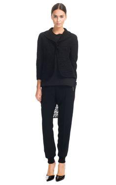 Giambattista Valli: Cady Viscose Jogging Pant, Kimono Jacket, and  Jersey Cotton Lace Back Tank