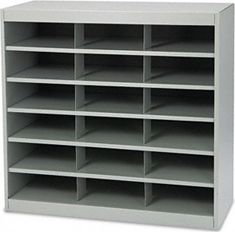 Safco EZ Stor Steel Project Organizer 18 Compartment 9264GR