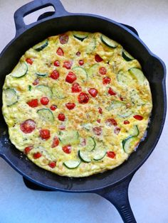 Roasted Tomato & Zucchini Frittata by Rachel Schultz - fun to make, pretty to plate, and tasted amazing (sjo)