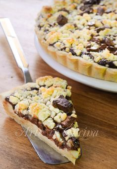 Sbriciolata alla crema pasticcera e cioccolato vickyart arte in cucina