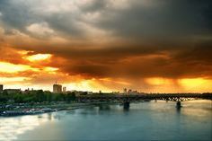 Storm over Warsaw - Taken yesterday during golden hour. Spring rainy storm came, and it was one of the last capture I took that evening.