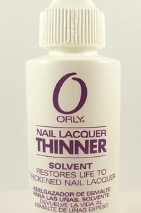 Save a bottle of old, thickened nail polish with just a couple drops of nail polish thinner.