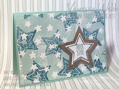 New Host Code and Rock Star card.........Letter press technique by Vanessa Webb Stampin' Up! Demonstrator Australia