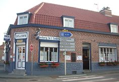 Estaminets flamands : L'estaminet du Centre ( ou Café du Centre) à Godewaersvelde.