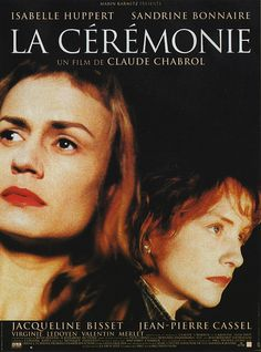 """La Cérémonie, directed by Claude Chabrol, starring Sandrine Bonnaire and Isabelle Huppert. Chabrol called it """"the last Marxist film. Jacqueline Bisset, Isabelle Huppert, Great Films, Good Movies, Films Étrangers, Claude Chabrol, Bon Film, French Movies, Cinema Film"""