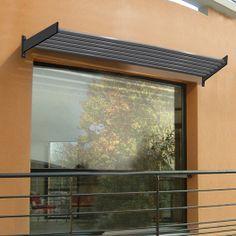 Brise soleil pour baie vitrée, structure en aluminium, 280x20x75 cm                                                                                                                                                                                 Plus