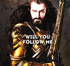One last time. :( - I'm in! *dries tears, stands behind Thorin and Fili and Kili, draws sword from sheath*