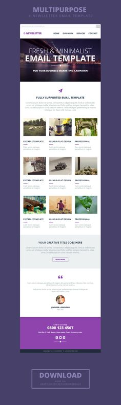 Responsive Email Newsletter Template for Effective Email Marketing - email newsletter template