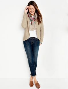 Talbots - diamond & cable back cardigan new arrivals woman Fall Outfits, Casual Outfits, Fashion Outfits, Casual Blazer, Women's Fashion, Plaid Blazer, Fall Fashion Trends, Autumn Fashion, Fashion Guide