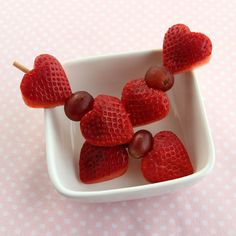 Heart Skewers: easy snack idea for healthy Valentine's Day