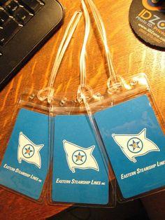 5941c526b818 Eastern Steamship Lines Luggage Tags - Repurposed Vintage Playing Cards Set  (3)