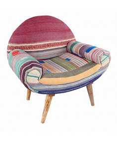 Boho Patchwork Chair Nursery Armchair, Patchwork Chair, Corner Sofa, Beautiful Space, Home And Living, Living Room, My Dream Home, Cool Furniture, Upholstery