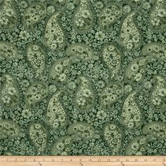 Jakarta Paisley Olive from @fabricdotcom  This cotton print is perfect for quilting, apparel, and home decor accents. Colors include shades of green.