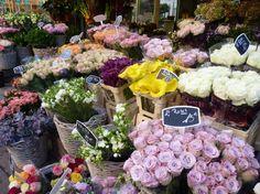 Flower shop on Rue Cler in Paris.