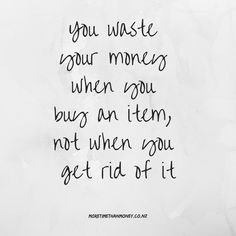 If you are really serious about making a change – there's a number of reasons I don't recommend that you sell your excess stuff. Minimalist Lifestyle, Minimalist Living, Minimal Quotes, Financial Quotes, Healing Words, Simple Living, Words Quotes, Sayings, How To Relieve Stress