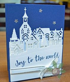 """I am using """"Hearts Come Home"""" again today, and again I have different options. This is a simpler design than yesterday's, with only two pieces of Thick Whisper White on the card front. Each is cut wit Christmas Cards 2018, Christmas Hearts, Homemade Christmas Cards, Stampin Up Christmas, Xmas Cards, Homemade Cards, Holiday Cards, Christmas Scrapbook, Mery Chrismas"""