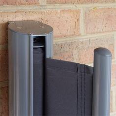 Blickdichte Seitenmarkise - ein ausziehbarer Windschutz ...