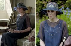 Downton Abbey  Fashion Recap: Quick Changes: This episode was all about Edith. This lovely outfit reminds me of a blue hydrangea bush in the best way possible.