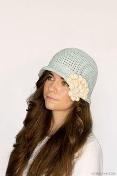 1920s Snowflake Cloche Hat Crochet Pattern