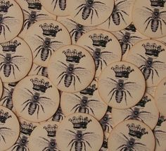 Stickers Queen Bee Vintage Envelope Seals by bljgraves on Etsy, $5.00