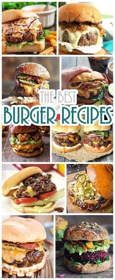 Recipes - The BEST Burger Recipes for your grill or griddle - your next barbecue will be LEGENDARY!Hamburger Recipes - The BEST Burger Recipes for your grill or griddle - your next barbecue will be LEGENDARY! The Best Burger, Best Burger Recipe, Good Burger, Burger On Grill, Gourmet Burgers, Beef Burgers, Veggie Burgers, Mini Burgers, Beef Sliders