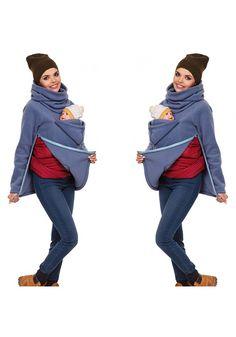 Grey Plain Pockets High Neck Casual Cotton Pullover Sweatshirt