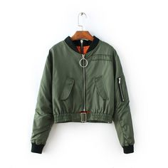 Check it on our site 2017 spring ladies military bomber jacket women basic coats windbreaker punk army green women short zipper jacket coat  just only $24.47 with free shipping worldwide  #womanjacketscoats Plese click on picture to see our special price for you