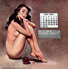 """girl-o-matic: """"Ernest Chiriaka for Esquire, Illustration used for a 1956 calendar. Pin Up Girl Vintage, Pin Up Posters, Pulp, Calendar Girls, Nose Art, Poses, Pin Up Art, Pin Up Style, Esquire"""