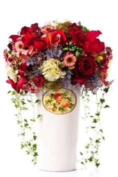 artificial-flowers-in-a-vintage-vase.