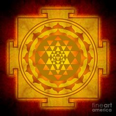 Sri Yantra golden color  e06e2899cf4c85379674fd8924310309.jpg (900×900)