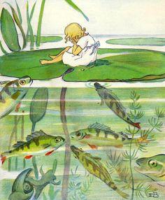 Elsa Beskow, Andersen's Fairy Tales, Amazing Drawings, Fairy Art, Vintage Artwork, Felt Art, Children's Book Illustration, Art Reference, Cool Art