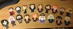 Harry Potter Characters Perler Bead Pin/Magnet by AnimezingShop