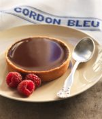 Chocolate Tart from Le Cordon Bleu. Small Desserts, Fun Desserts, Dessert Recipes, Le Cordon Bleu, Delicious Donuts, Yummy Food, B Recipe, Chocolate Delight, Sweet Pastries