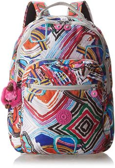 Kipling Seoul Printed Large Backpack With Laptop Protection, Graphic Arts, One Size