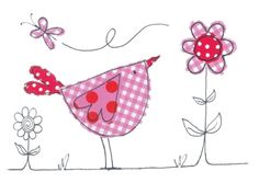 Doodle Bird Card from dots and spots. Great company based here in the Mendips. Lovely lady too.