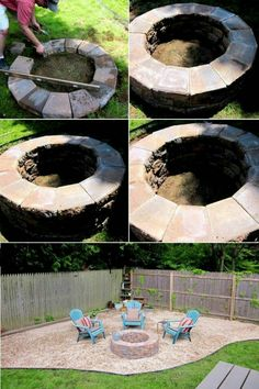 38 Easy And Fun DIY Fire Pit Ideas, Diy Outdoor Fire Pits easy diy fire pit - Easy Diy Crafts How To Build A Fire Pit, Diy Fire Pit, Fire Pit Backyard, Fire Pits, Backyard Hammock, Backyard Beach, Backyard Movie, Diy Garden Projects, Outdoor Projects