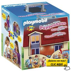 Playmobil - Casa de muñecas en forma de maletín,... #playmovil