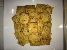 Gluten Free Crackers - Base recipe and alternatives. These are so so good! Imagine, See, Do