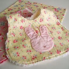 soft pink bunny bib by nanaCompany, via Flickr
