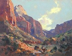 """""""Rich Reds of Zion,"""" Kevin Macpherson, 11x14, oil on board"""