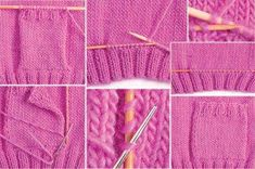 It is a website for handmade creations,with free patterns for croshet and knitting , in many techniques & designs.Lomme - How differently knitting tipsAdding a pocket Baby Sweater Knitting Pattern, Baby Knitting, Knitting Designs, Knitting Stitches, Crochet Wool, Yarn Tail, Knitted Bags, Embroidery Techniques, Knit Patterns