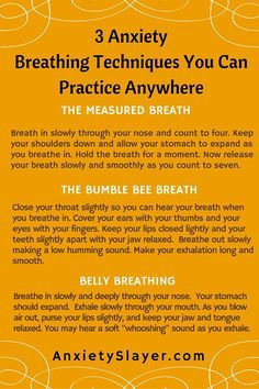 3 Anxiety Breathing Techniques You Can PracticeAnywhere - Self help for anxiety - Anxiety Slayer