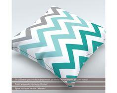 Chevron Bluish, διακοσμητικό μαξιλάρι